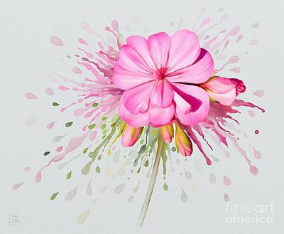 Painting - Pink Eruption by Ivana Westin