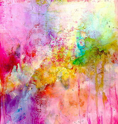 Wall Art - Painting - Pink Expressive Abstract by Alexis Bonavitacola