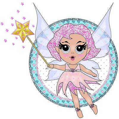 Digital Art - Pink Fairy by Heidi Kriel