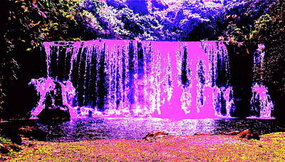 Digital Art - Pink Falls by Erika Swartzkopf