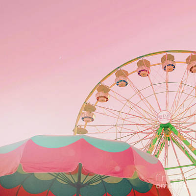 Photograph - Pink Ferris Wheel by Cindy Garber Iverson