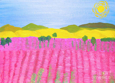 Painting - Pink Field by Irina Afonskaya