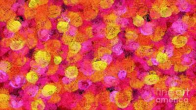 Digital Art - Pink Fire by Honey Brown