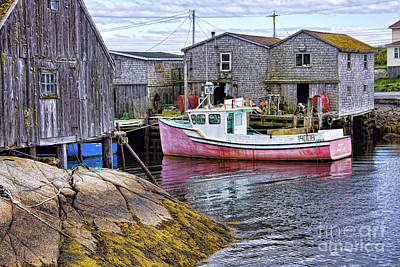 Photograph - Pink Fishing Boat At Peggy's Cove by Tatiana Travelways