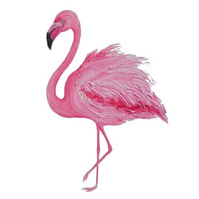 Painting - Pink Flamingo by Jan Matson