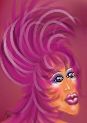 Pink Flamingo Art Print by Ronald Terrel
