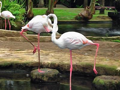 Pink Flamingo Original by Sergey Lukashin