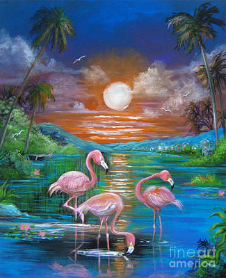 Painting - Pink Flamingos by Patrice Torrillo
