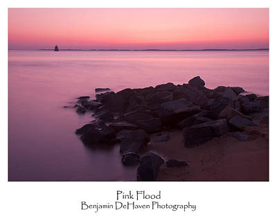 Chesapeake Bay Photograph - Pink Flood by Benjamin DeHaven