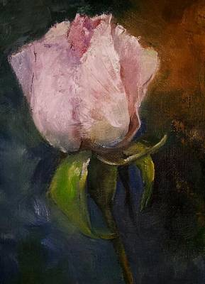 Painting - Pink Floral Bud by Michele Carter