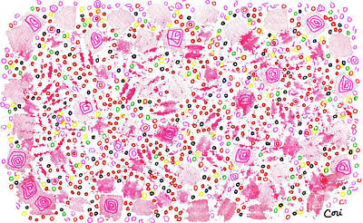 Painting - Pink Floral by Corinne Carroll