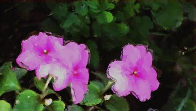 Photograph - Pink Floral Watercolor by David Lane