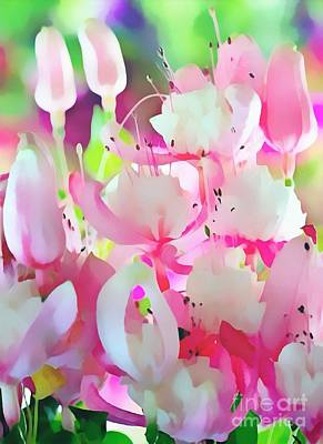 Royalty Free Images Painting - Pink Florals On Paper Realistic by Catherine Lott