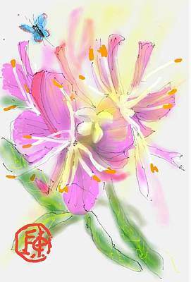 Digital Art - Pink Flower by Debbi Saccomanno Chan
