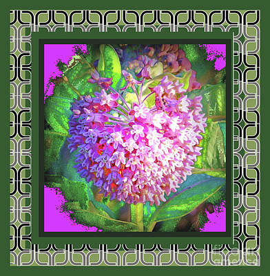 Photograph - Pink Flower Deco Border by Shirley Moravec
