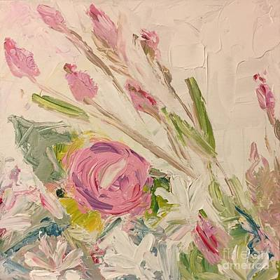 Painting - Pink Flower Garden by Tonya Henderson
