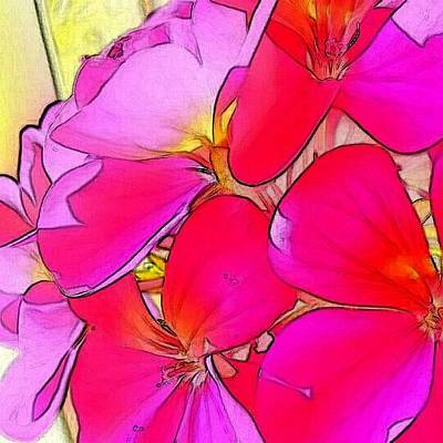 Digital Art - Pink Flower by Kumiko Izumi