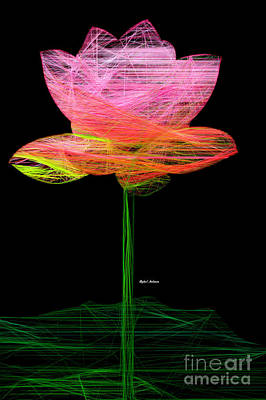 Digital Art - Pink Flower by Rafael Salazar