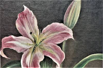 Painting - Pink Flower by Suzn Art Memorial