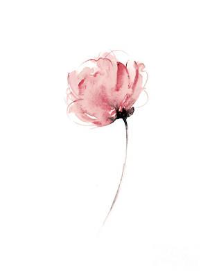 Pink flower watercolor art print painting painting by joanna szmerdt pink flower watercolor art print painting art print by joanna szmerdt mightylinksfo