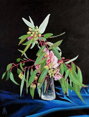 Painting - Pink Flowering Gum by Anne Gardner
