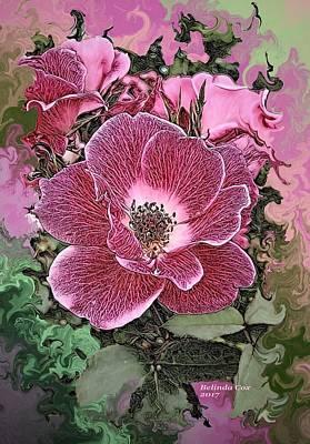 Digital Art - Pink Flowers by Artful Oasis