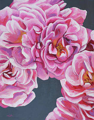 Painting - Pink Flowers by Elise Procter