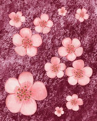 Painting - Pink Flowers Happy Garden II by Irina Sztukowski