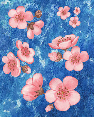 Painting - Pink Flowers Happy Garden IIi by Irina Sztukowski