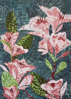 Mixed Media - Pink Flowers by Janyce Boynton