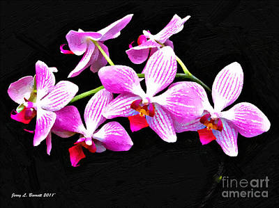 Mixed Media - Pink Flowers by Jerry L Barrett