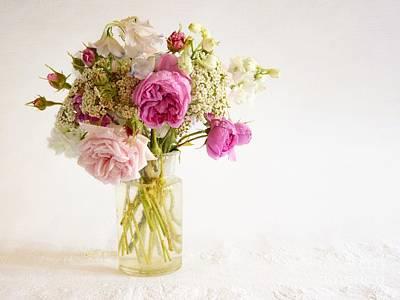 Photograph - Pink Flowers by Katerina Vodrazkova