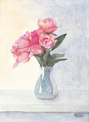 Painting - Pink Flowers by Ken Powers