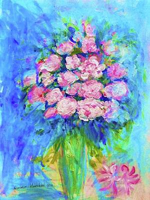 Painting - Pink Flowers by Wanvisa Klawklean