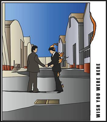 Pink Floyd - Wish You Were Here Art Print
