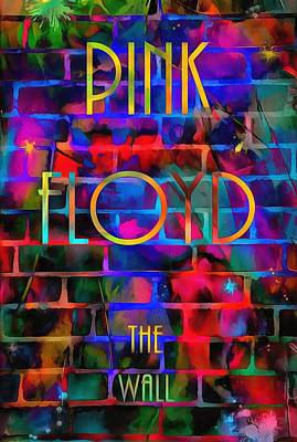 Music Painting Rights Managed Images - Pink Floyd The Wall Royalty-Free Image by Dan Sproul