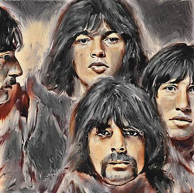Digital Art - Pink Floyd Young by Yury Malkov