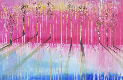Pink Forest Original by Cat Crimson