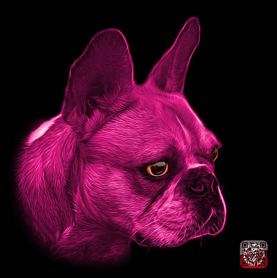 Painting - Pink French Bulldog Pop Art - 0755 Bb by James Ahn