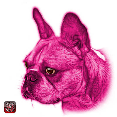 Painting - Pink French Bulldog Pop Art - 0755 Wb by James Ahn
