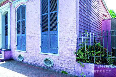 Photograph - Pink French Quarter Cottage - Digital Painting by Kathleen K Parker