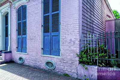 Photograph - Pink French Quarter Cottage New Orleans by Kathleen K Parker