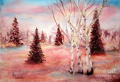 Pink Frost Print by Ann Sokolovich