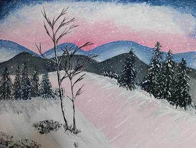 Pond Painting - Pink Frost by Nura Abuosba