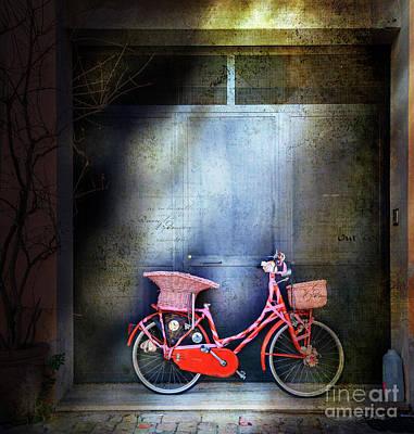 Photograph - Pink Garage Bicycle by Craig J Satterlee