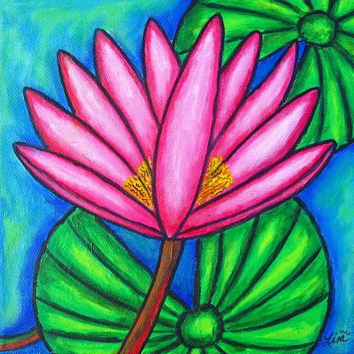 Painting - Pink Gem 3 by Lisa  Lorenz