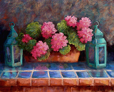 Wall Art - Pastel - Pink Geraniums by Candy Mayer