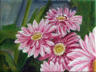 Painting - Pink Gerbera Daisies by Helen Eaton