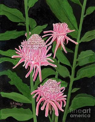 Pink Ginger Original by Linda Wolf