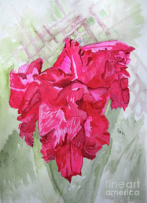 Painting - Pink Gladiolus by Sandy McIntire